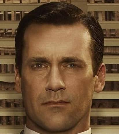 Don Draper Conservative Hairstyle.