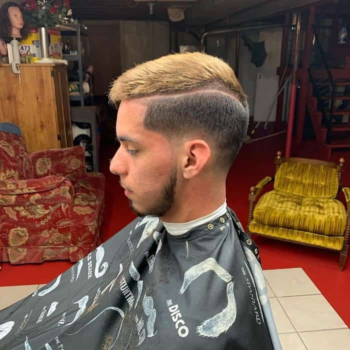 Dope Haircut with Side Part