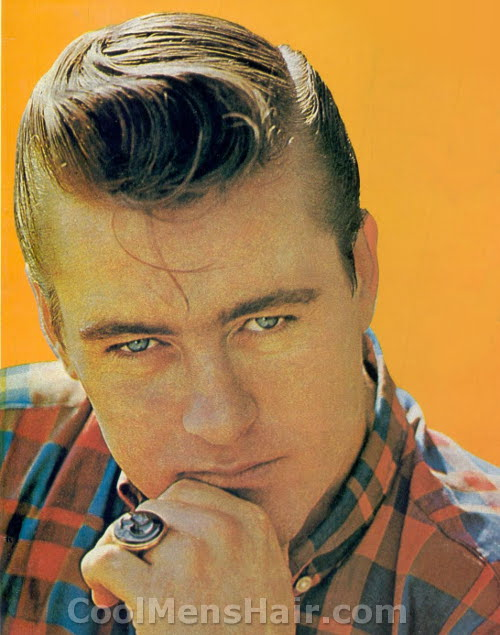 Dorsey Burnette with his pompadour hairstyle