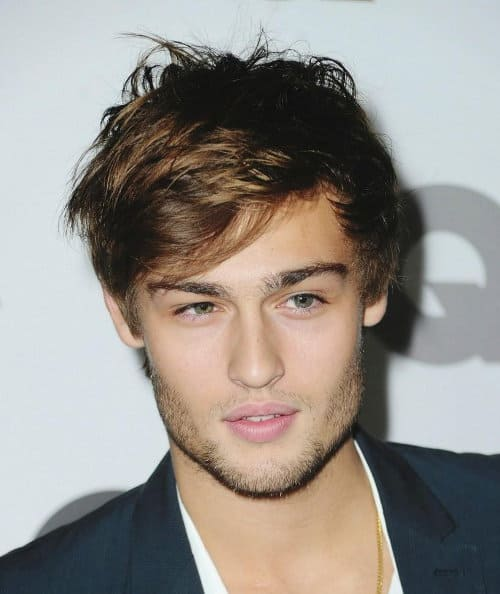 Image Douglas Booth casual hairstyle for men.
