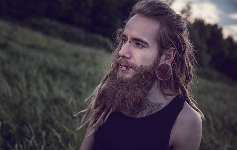 guy with dreadlock beard