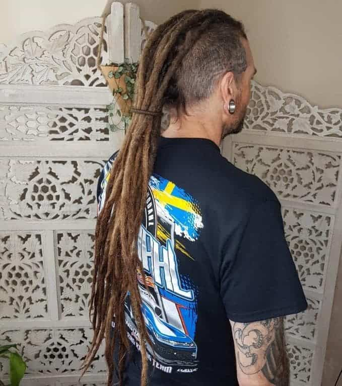Long Dreadlock Mohawk with Fade