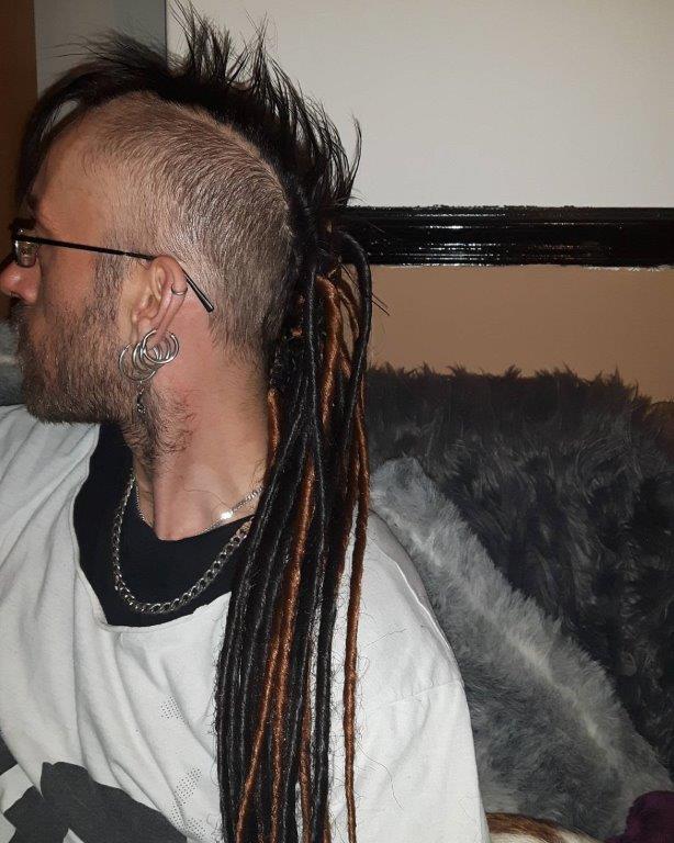 spiky mohawk with dreadlocks