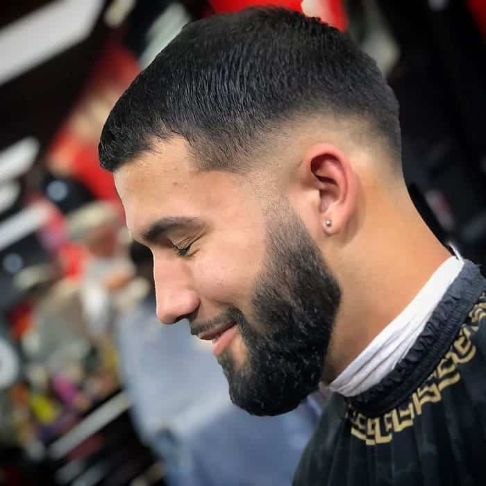 drop fade with full beard