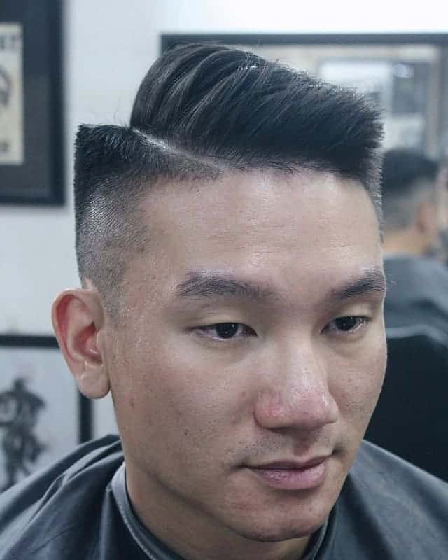 drop fade hairstyles with part