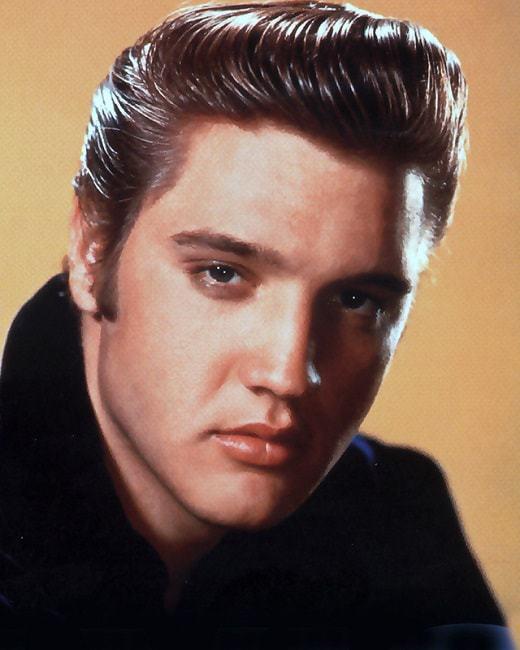 Elvis Presley 50's hairstyle.
