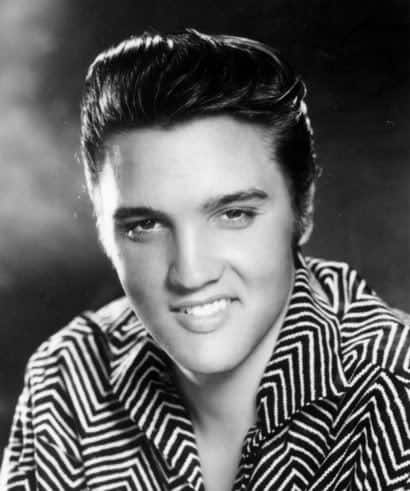 image of Elvis Presley pompadour hairstyle