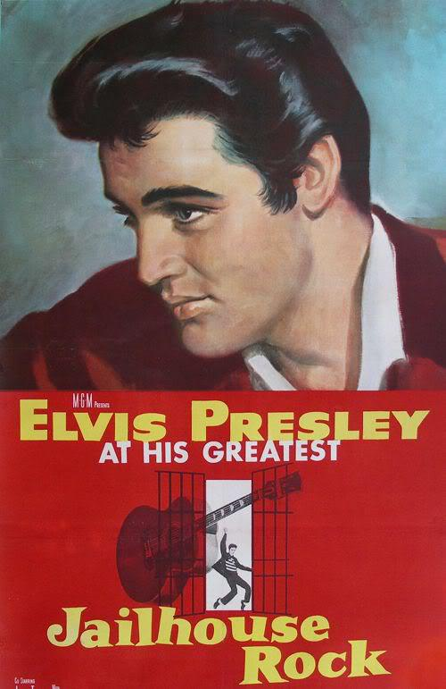 Photo of Elvis Presley in Jailhouse Rock.