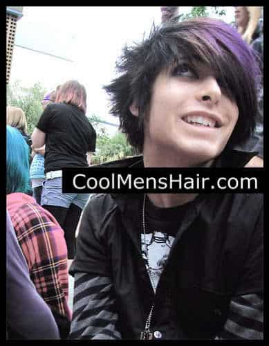 Image of spiky emo hairstyle.