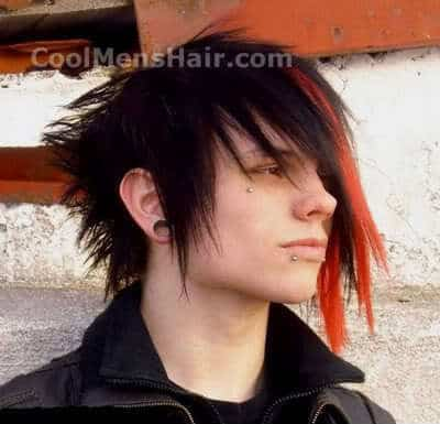 Photo of emo hair.