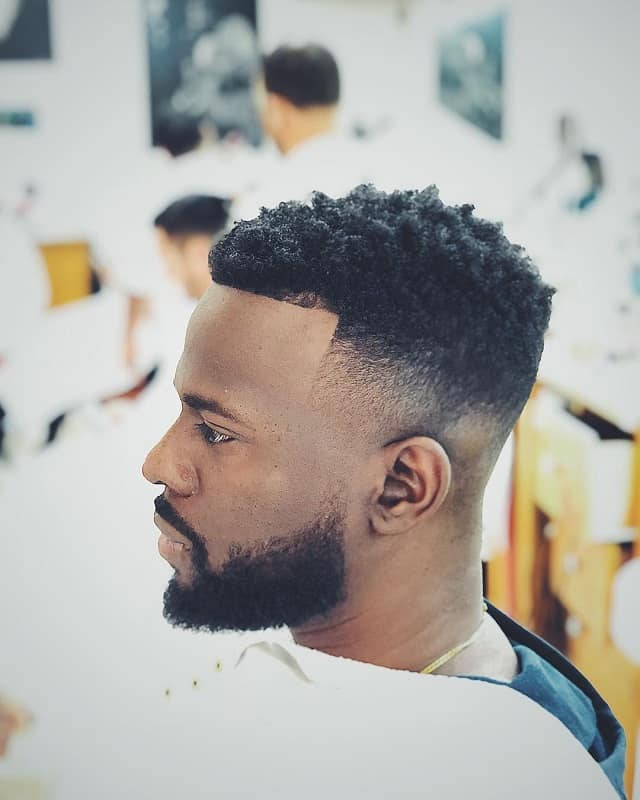 men's fade hairstyles for curly hair