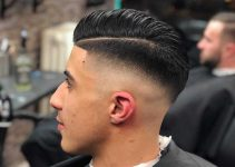 fade with part for men