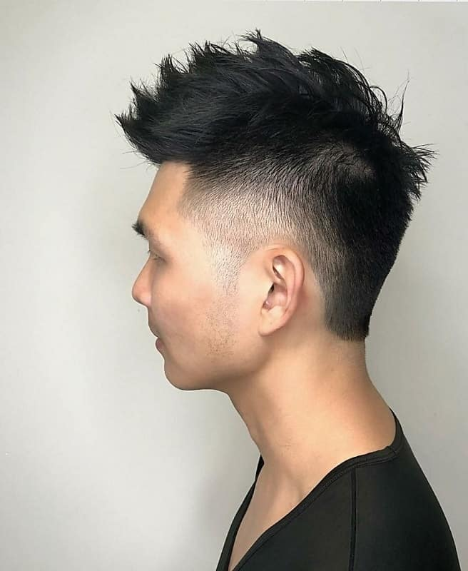 high fade undercut with spikes