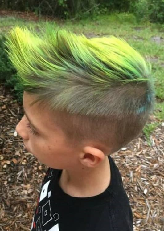 Young Boy with Tousled Faux HawkHairstyle
