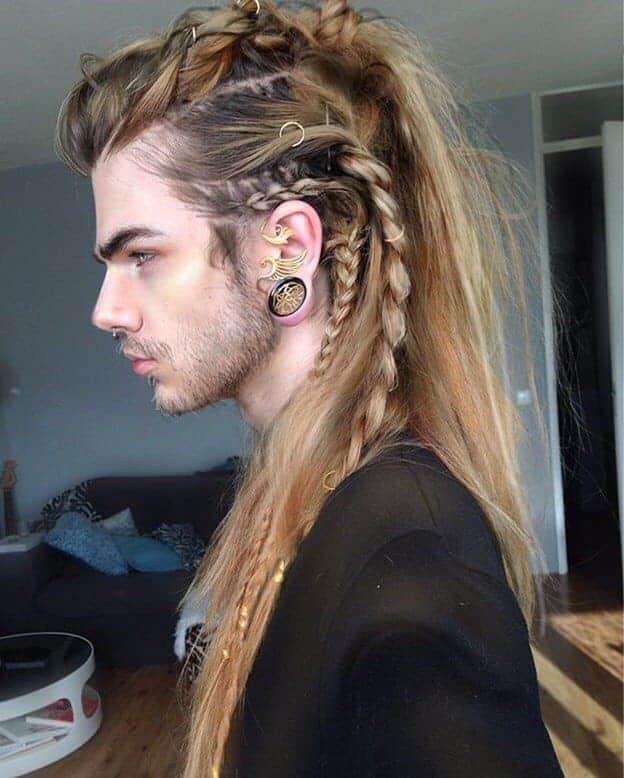 faux hawk braids for long hair