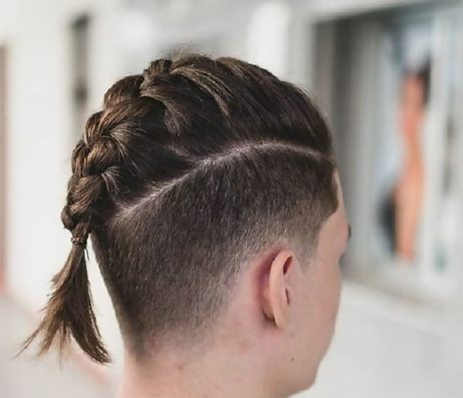 faux hawk braids with undercut