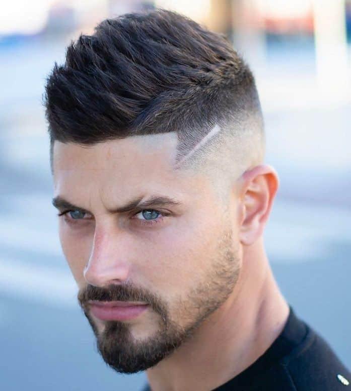faux hawk taper haircut