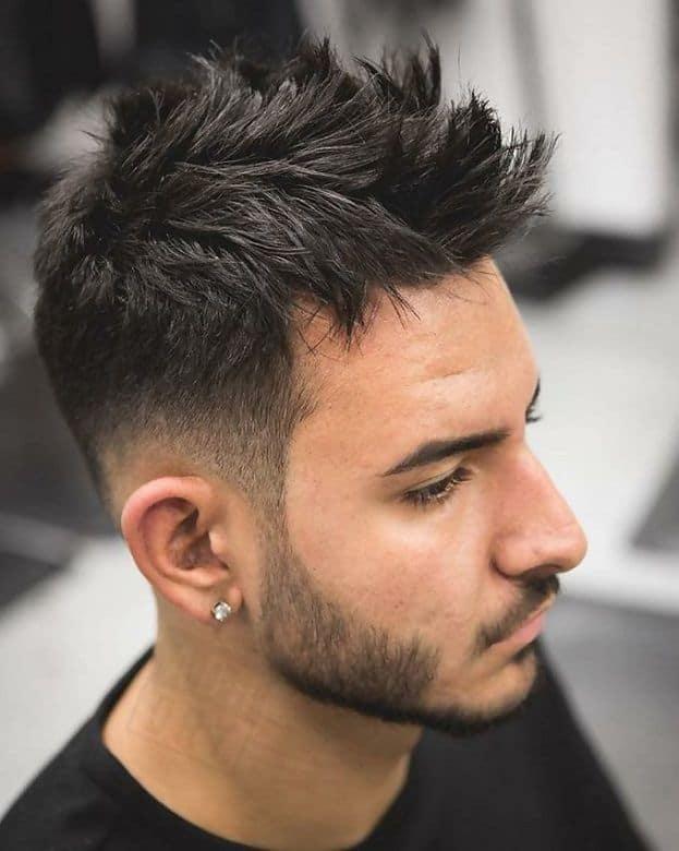texturized faux hawk haircut