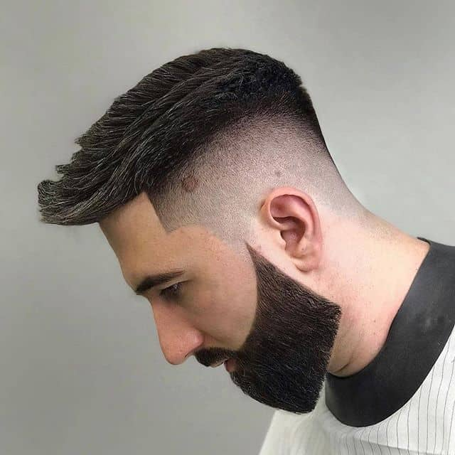 faux hawk taper with high fade