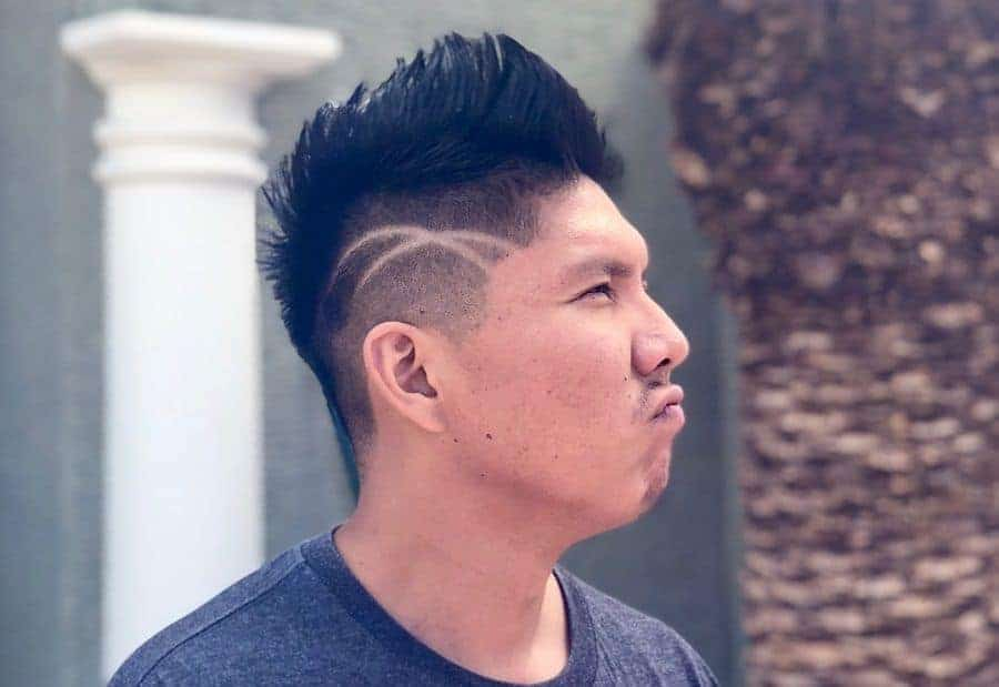 faux hawk taper