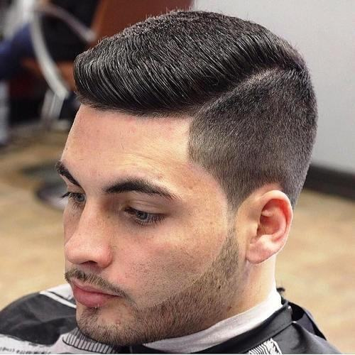 flat top with side part