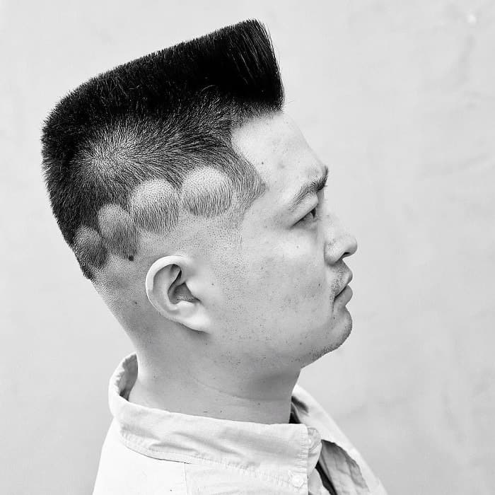flat top fade with design