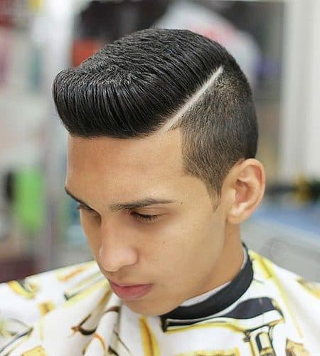 Flat Top Fade with Pompadour
