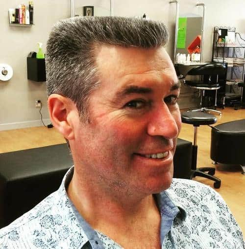 classic fade with flat top hairstyle