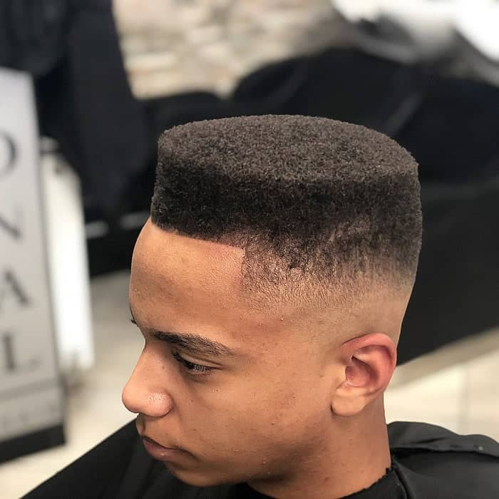 black guy with flat top haircut