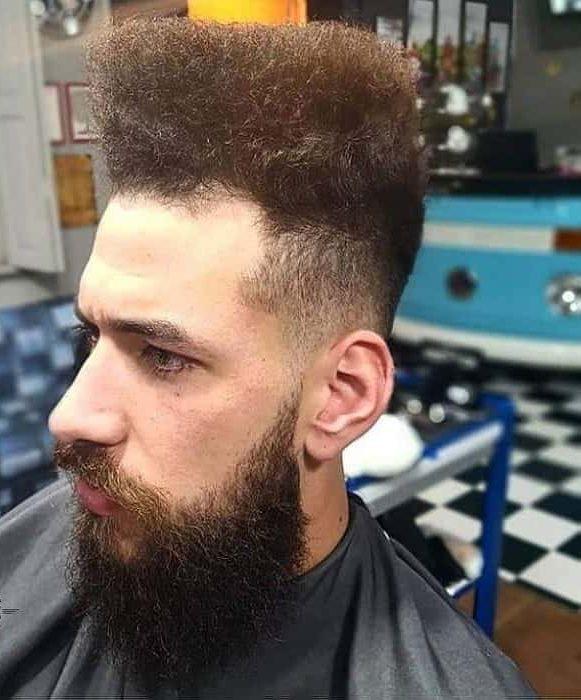 long flat top haircut for curly hair