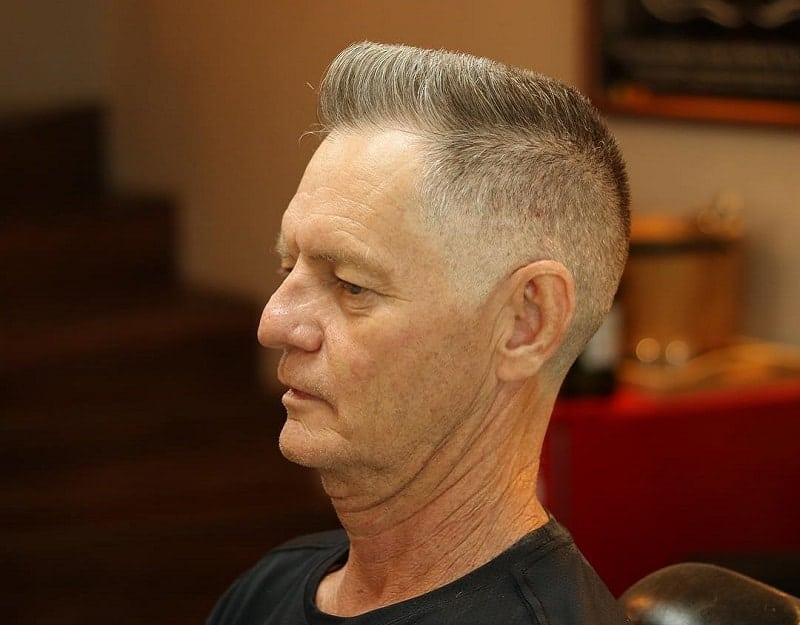 white guy with modern flat top haircut
