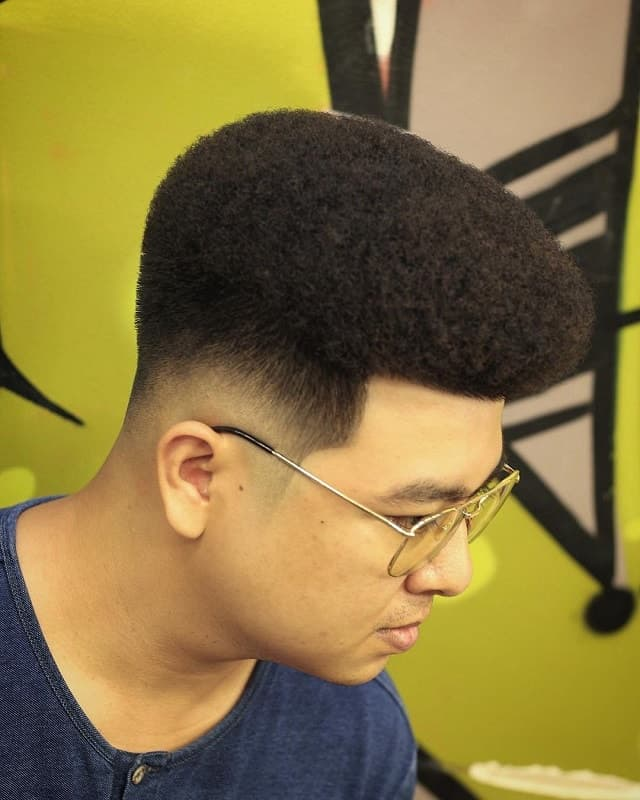 guy with flat top haircut
