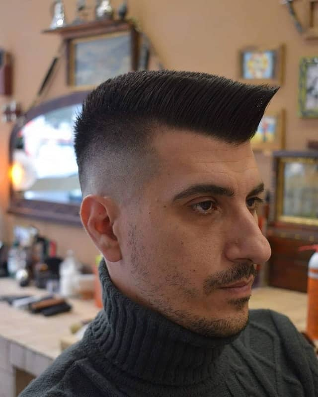 Medium Flat Top Haircut from The 80's
