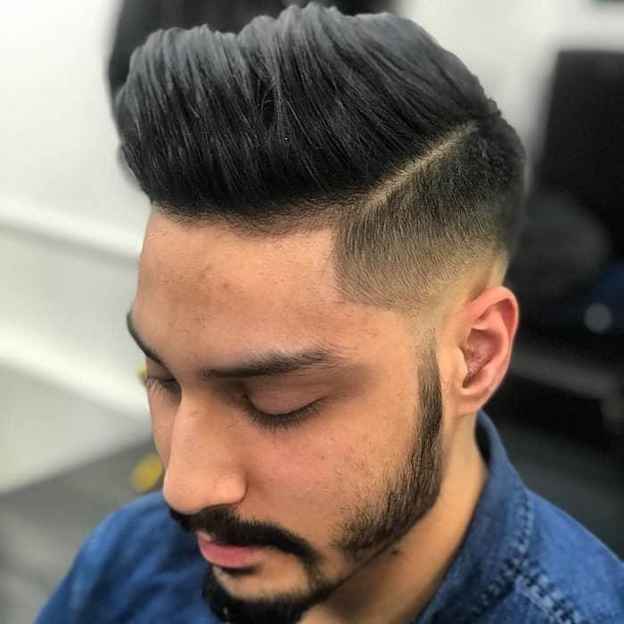 pompadour style flow haircut