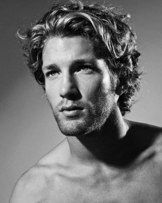 guy with textured flow hairstyle