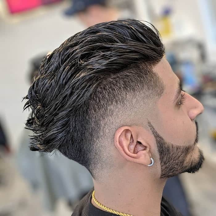 flow haircut with faux hawk