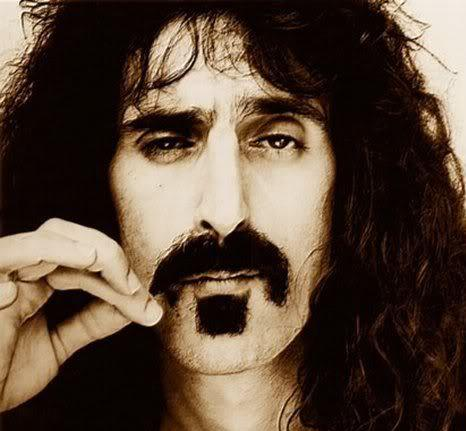 Photo of Frank Zappa mustache.