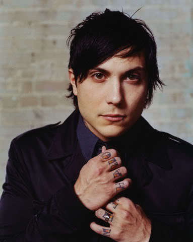 Men hairstyle from Frank Iero.