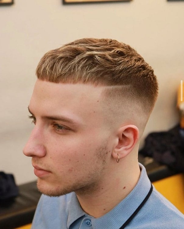 french crop top with taper