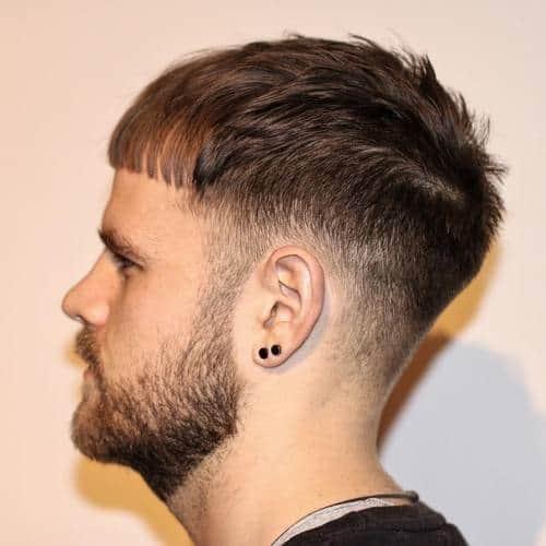 Fringe caesar cut