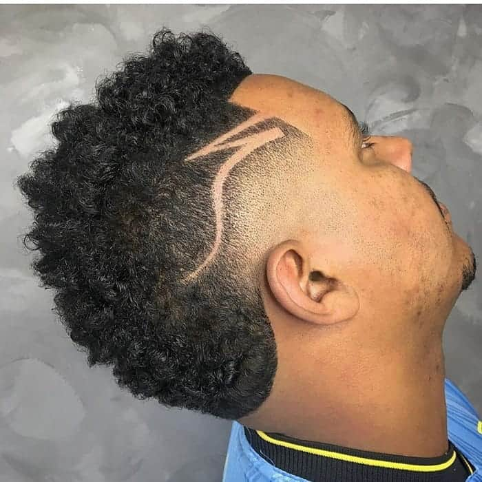 Frohawk Fade with Design