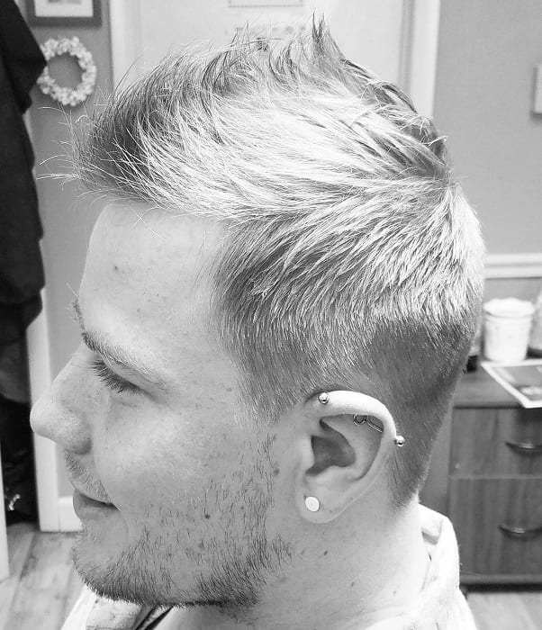 Spiky Frohawk with Faded Sides