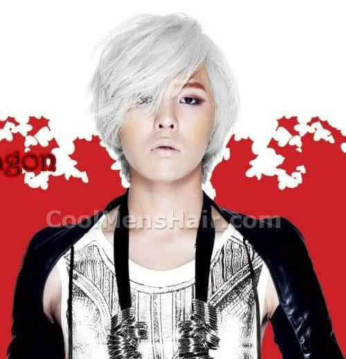 Image of G-Dragon hairstyle in the Heartbreaker album.