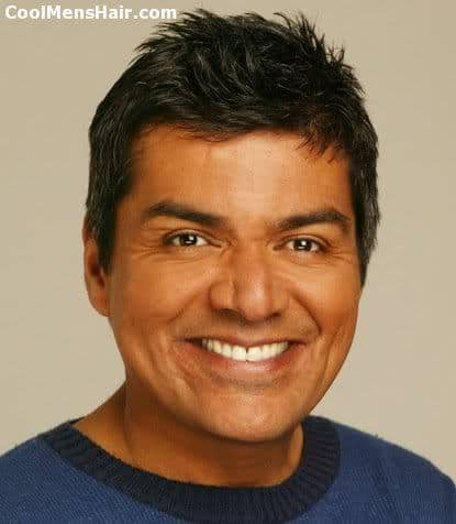 Picture of George Lopez hairstyle for men with square face.