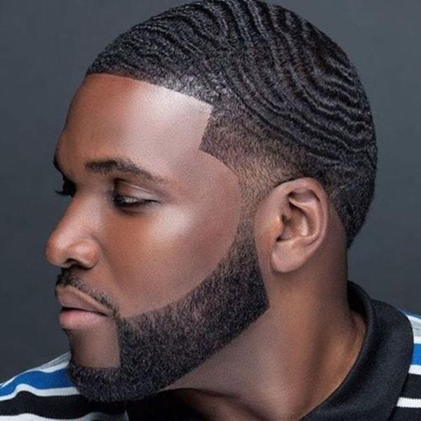 360 waves on men's straight hair