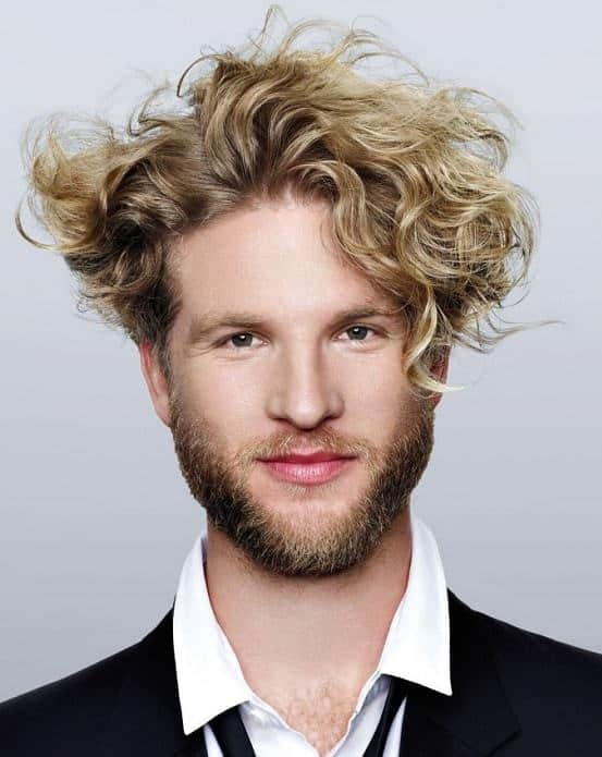 how to get waves with straight blonde hair for men