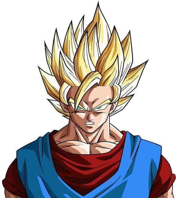 Goku blonde hairstyle