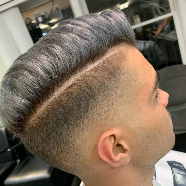 side swept grey hairstyles for guys