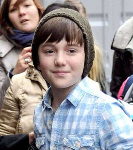 Image of Greyson Chance bangs hairstyle for young men.
