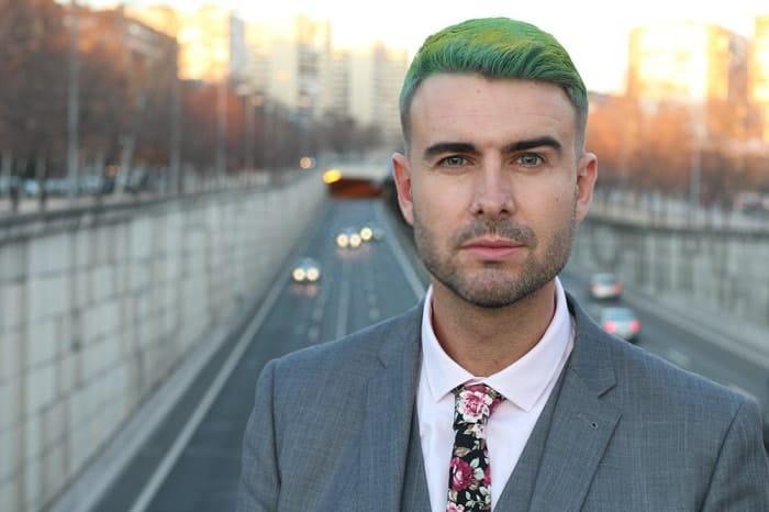 green hair dye for men
